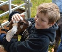 4th grader Jacob DeMaagd said petting a goat is similar to petting sheep, but minus the wool