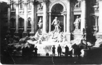 The Fountain of Trevi in Rome.