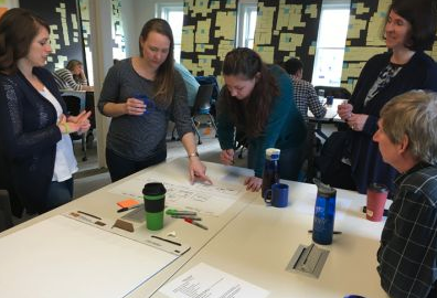 The human-centered design team is working through a two-year school reform process